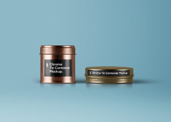 Tin Jars Packaging Free Mockup