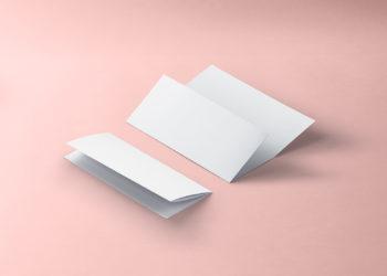 Tri-fold 8.5x11 inch brochure free mockup