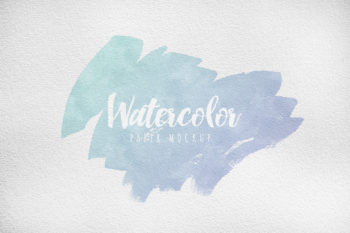 Watercolor Paper Free Mockup