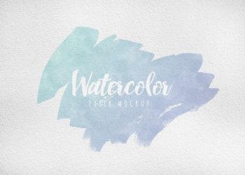 Watercolor Paper Free Mockup