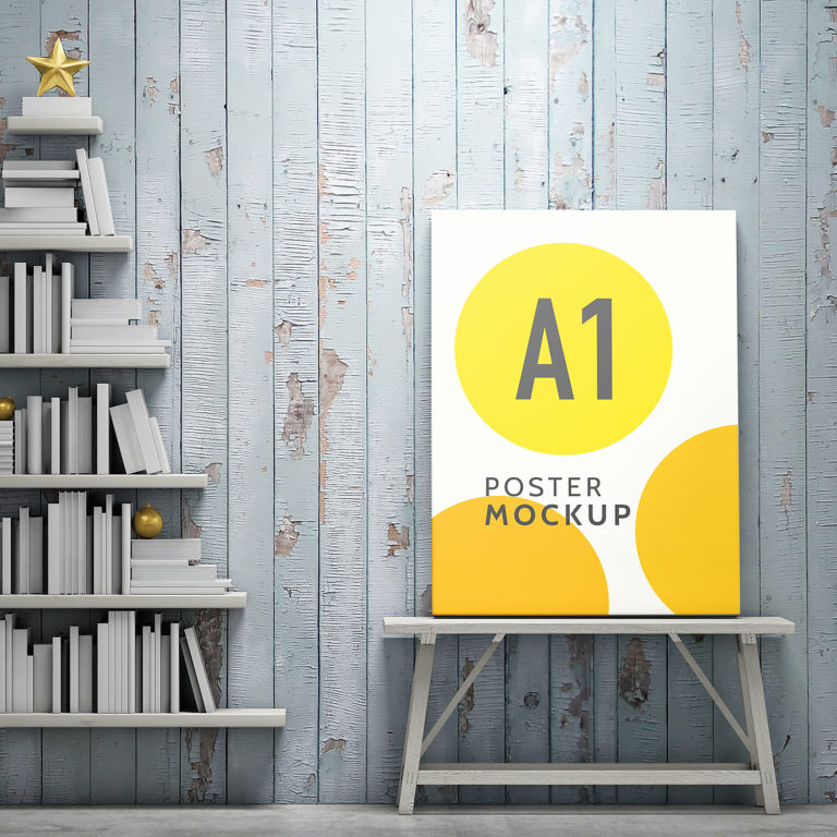 A1 Poster Mock-Up Free PSD