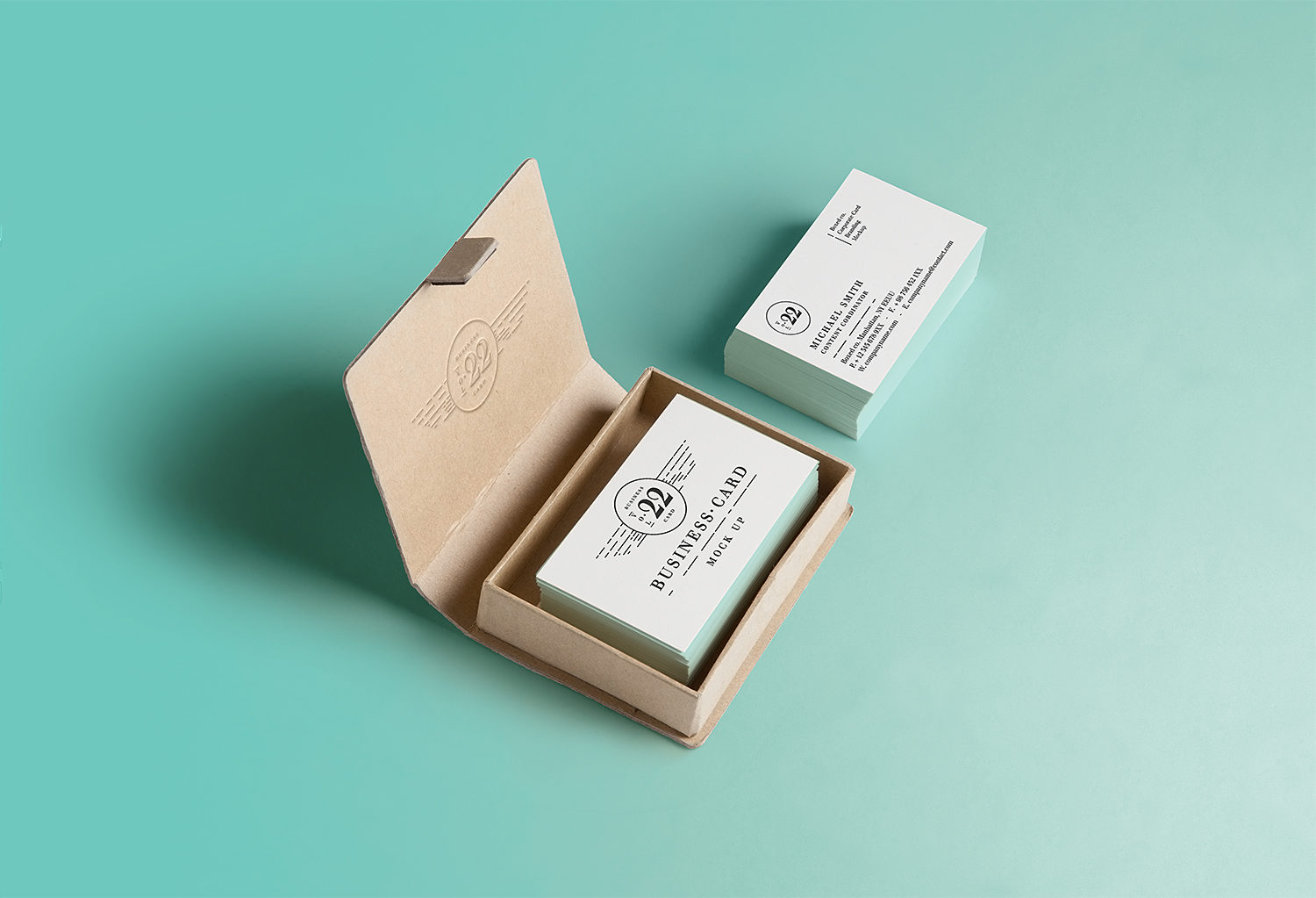 Business Card Free Mock-Up PSD