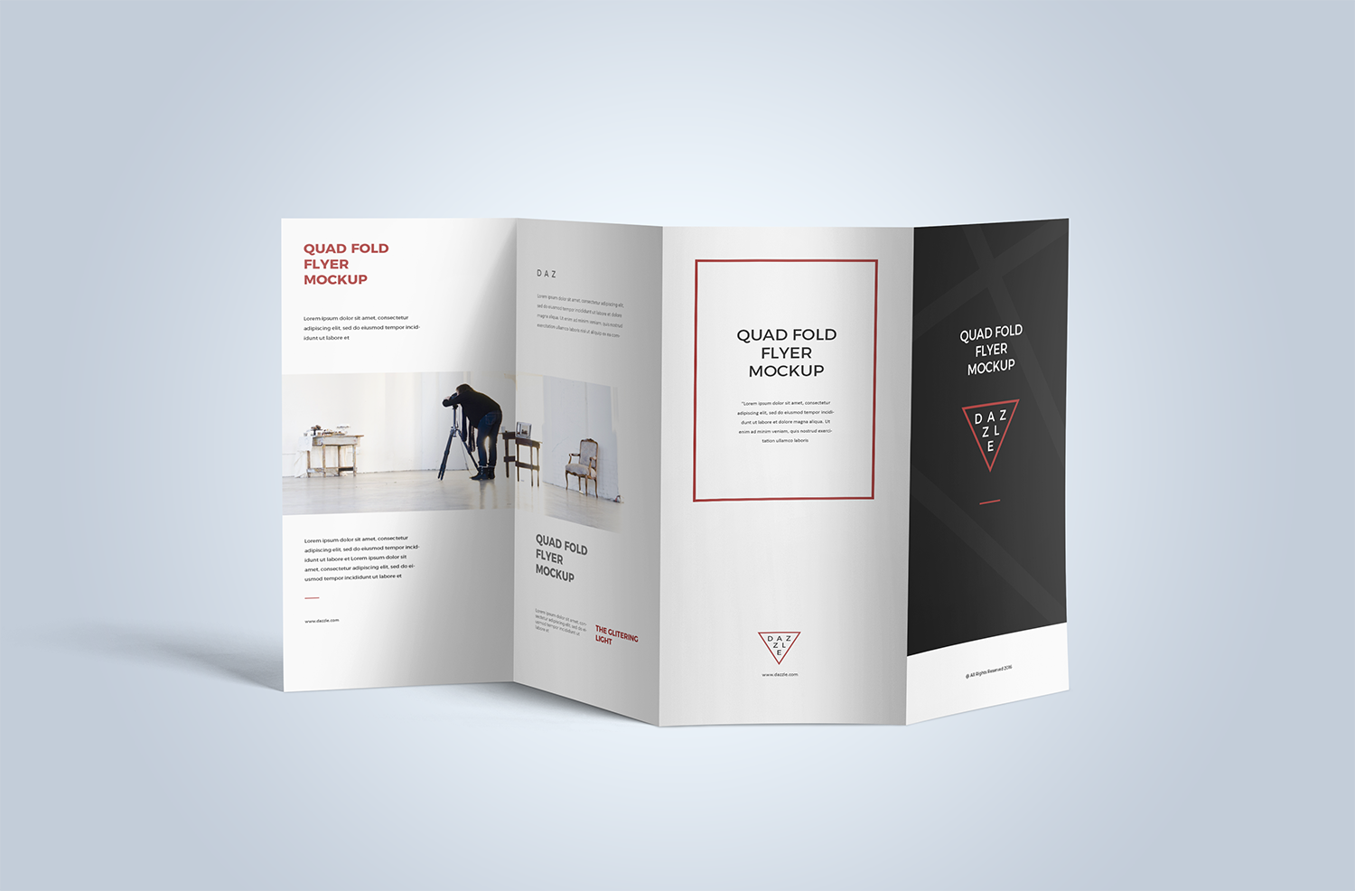 Free Accordion Fold Brochure Mockup