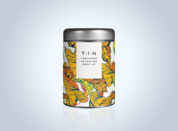 Free Tin Container Mockup