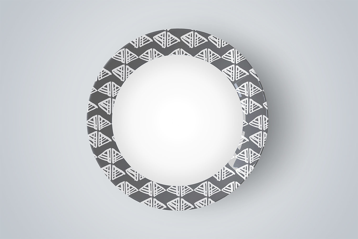 Top View Ceramic Plate Mock-Up