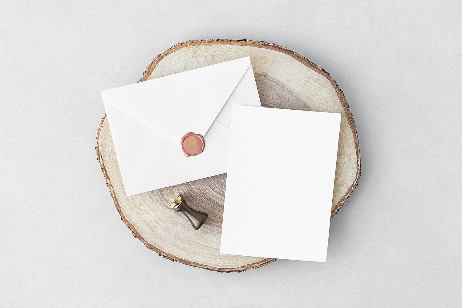 Free Invitation Card & Envelope PSD Mockup