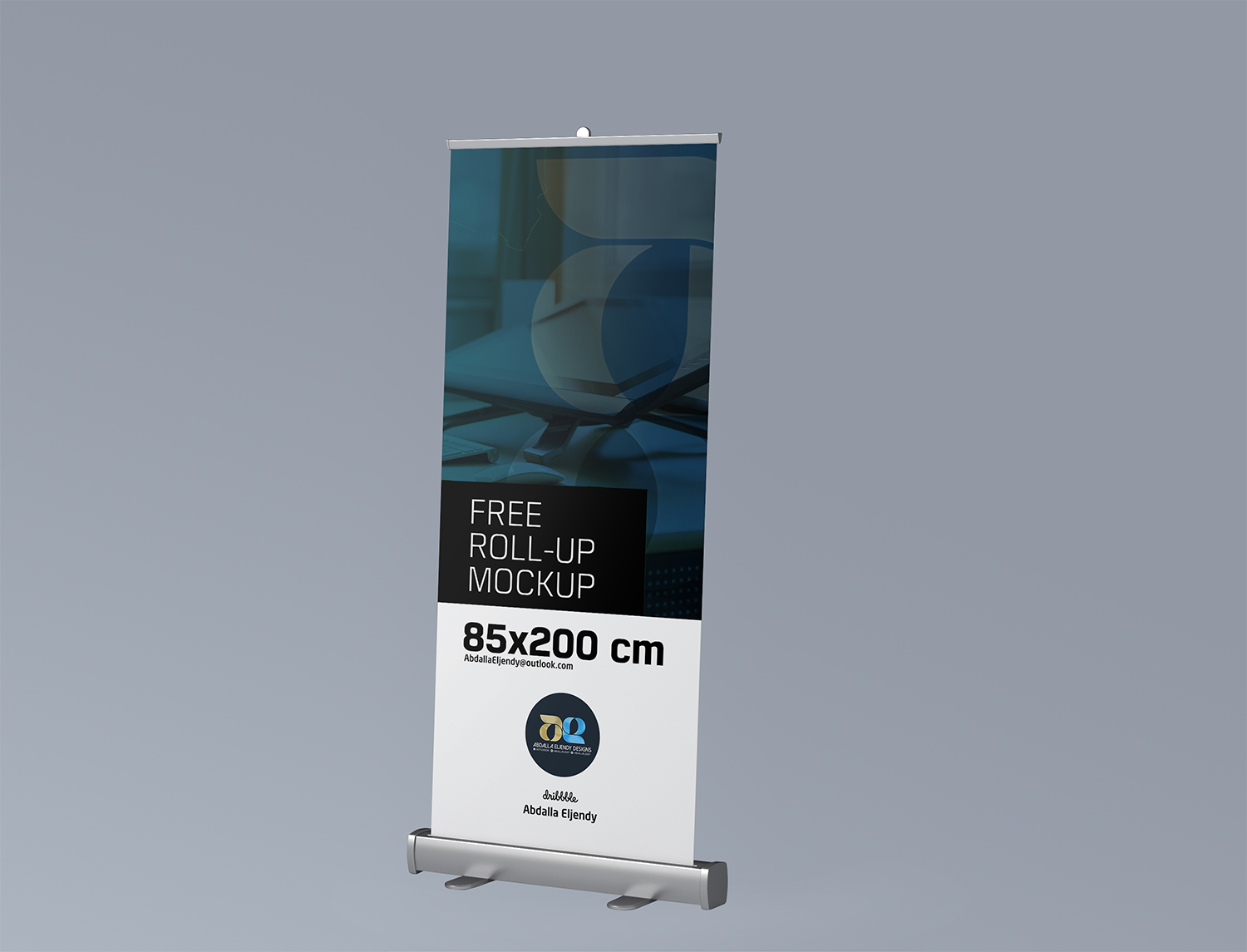 Free Roll-Up Advertising Mockup