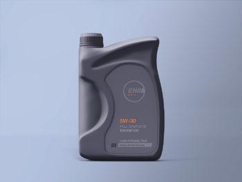 Engine Oil Bottle Mockup
