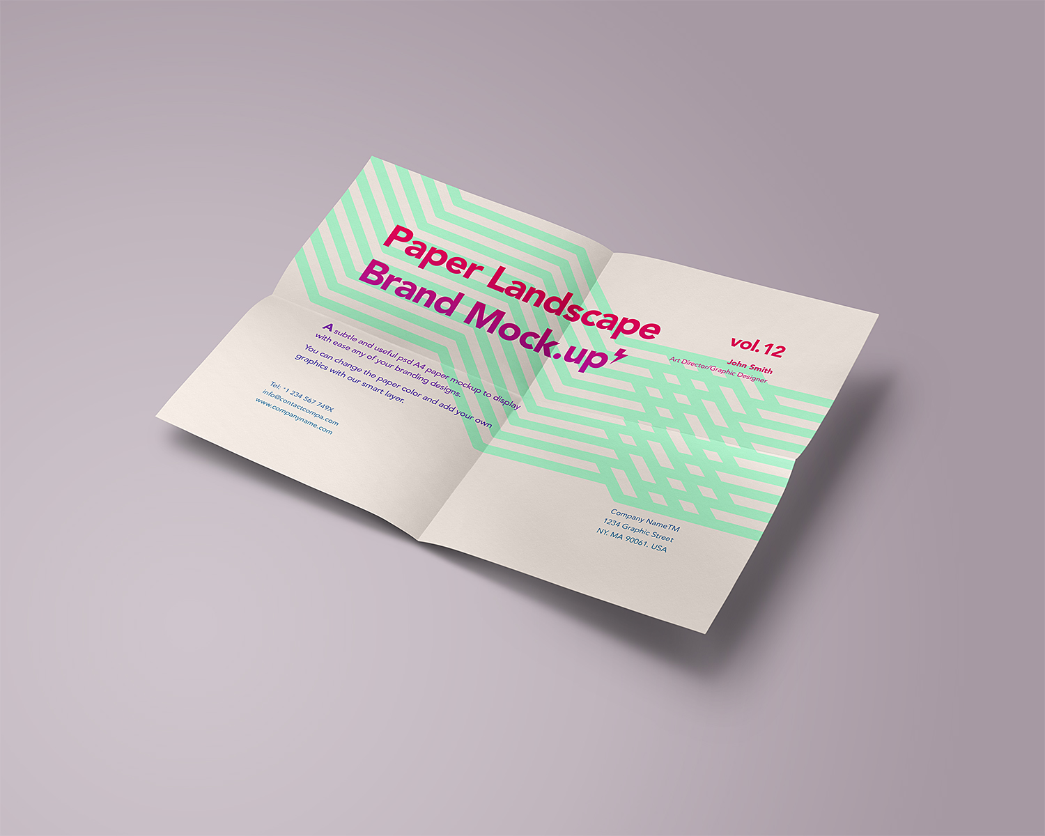 Free A4 Paper Mock-Up
