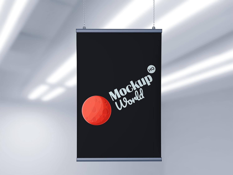 Free Advertising Banner Poster Mockup