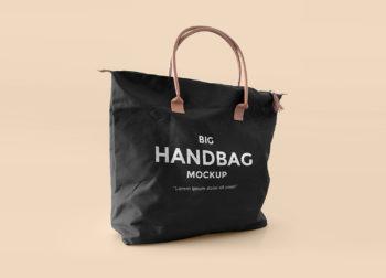 Free Big Handbag Mockup