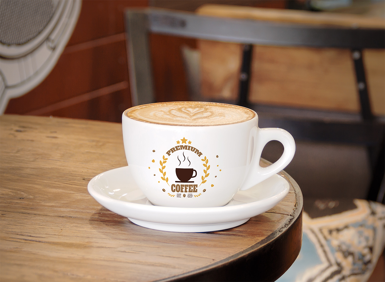 Free Branding Coffee Cup Logo Mockup