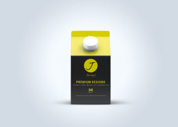 Free Carton Juice Packaging Mockup