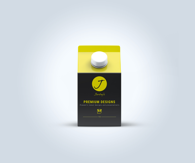 Free Carton Juice Packaging Mockup