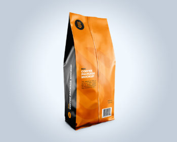 Free Coffee Pouch Packaging Mockup