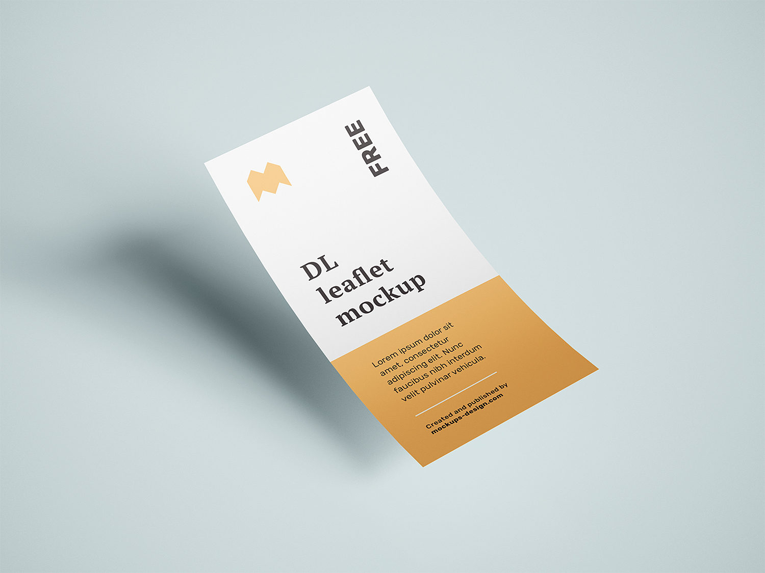 Free Flying DL Leaflets Mockup