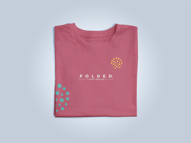 Free Folded T-Shirt Apparel Mockup