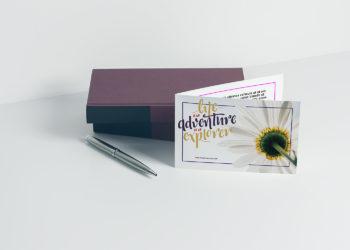 Free Greeting Card Mockup v3