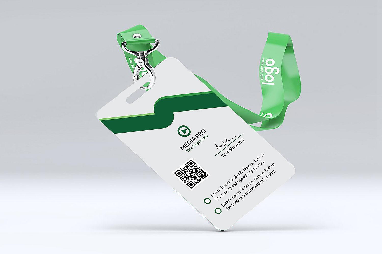 Free ID Card Design Mockup