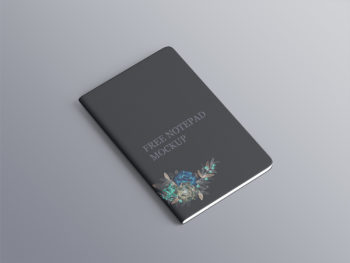 Free Notepad Mockup with Rounded Corners