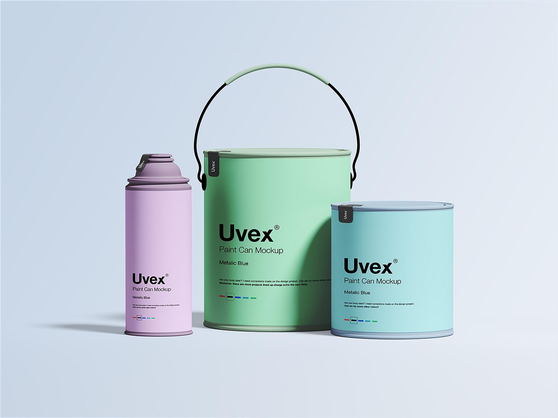 Free Paint Packaging Mockup