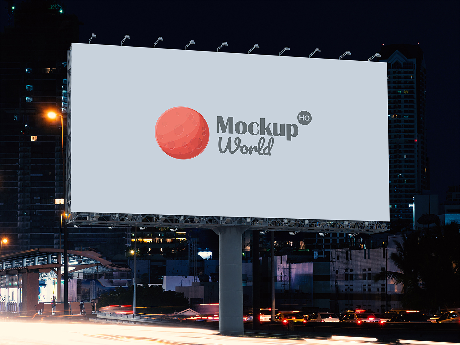 Free Roadside Billboard Mockup