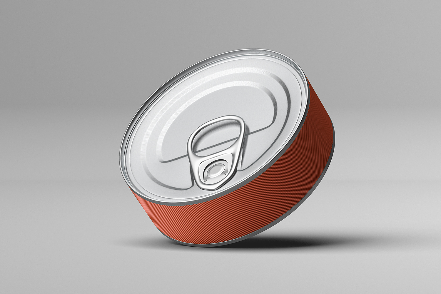 Free Short Tin Can Mockup
