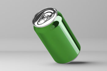 Free Soda Can Mock-Up