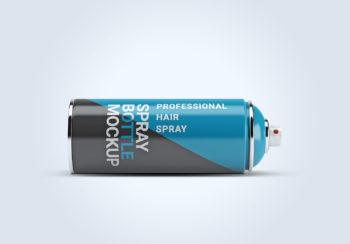 Free Spray Paint Bottle Label Mockup