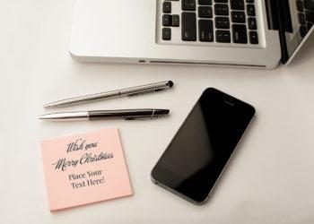 Free Sticky Note Mockup