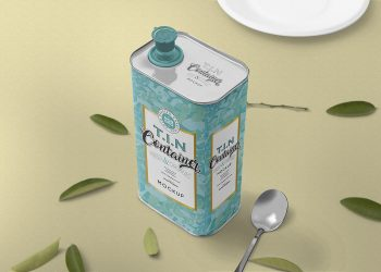 Free Tin Can Mockup Packaging