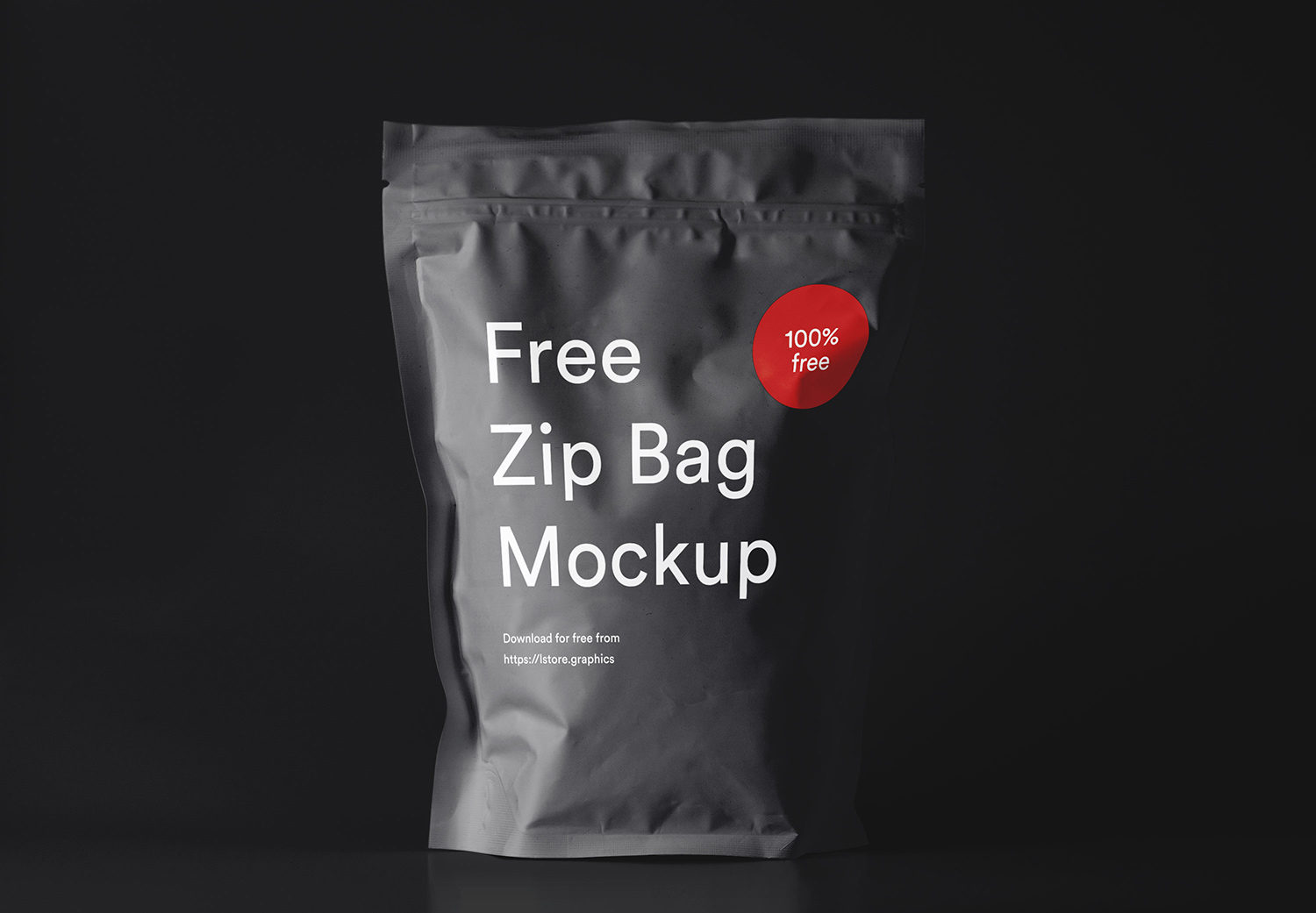 Free Zip Bag Pouch Package Mockup