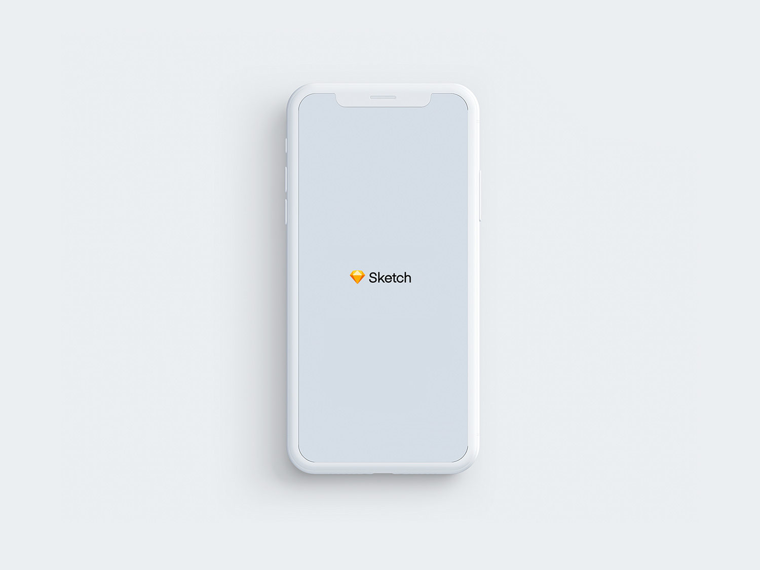 Free iPhone X Clay Sketch Mockup