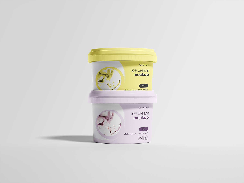 Ice Cream Package Mockup