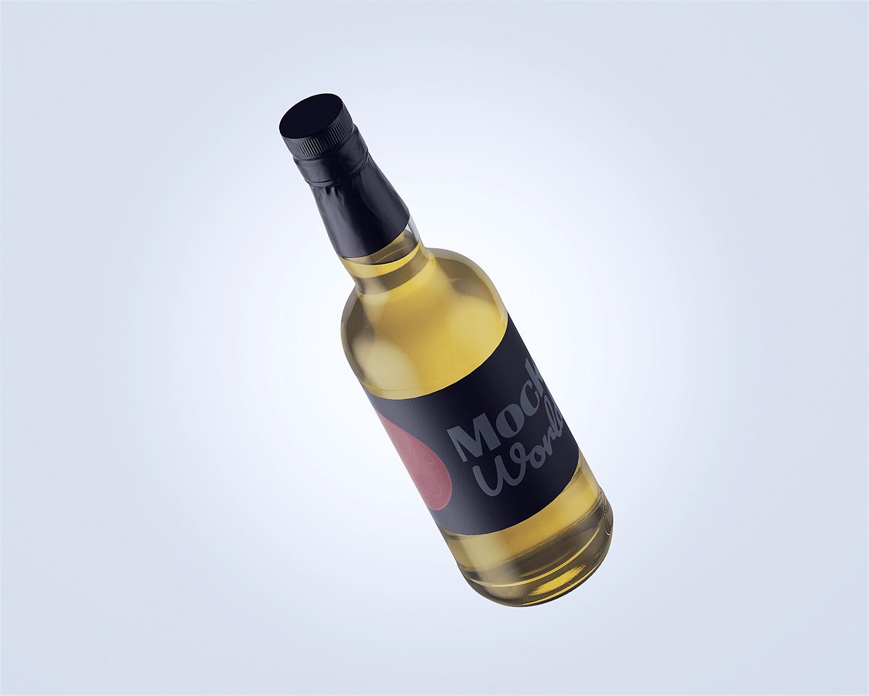Liquor Bottle Free Mockup