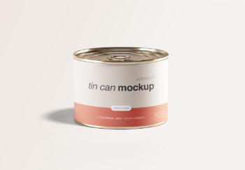 Medium Tin Can Mockup