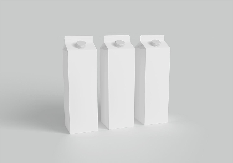 Milk Carton Packaging Mockup Free