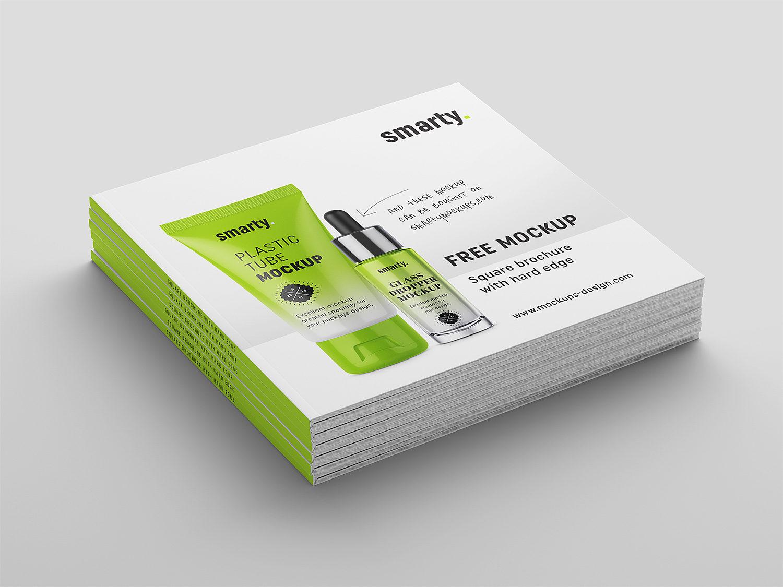 Square Hardcover Brochure Free Mockup