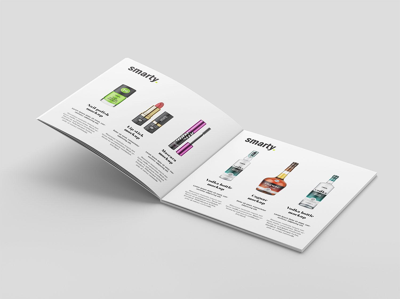 vSquare Hardcover Brochure Free Mockup