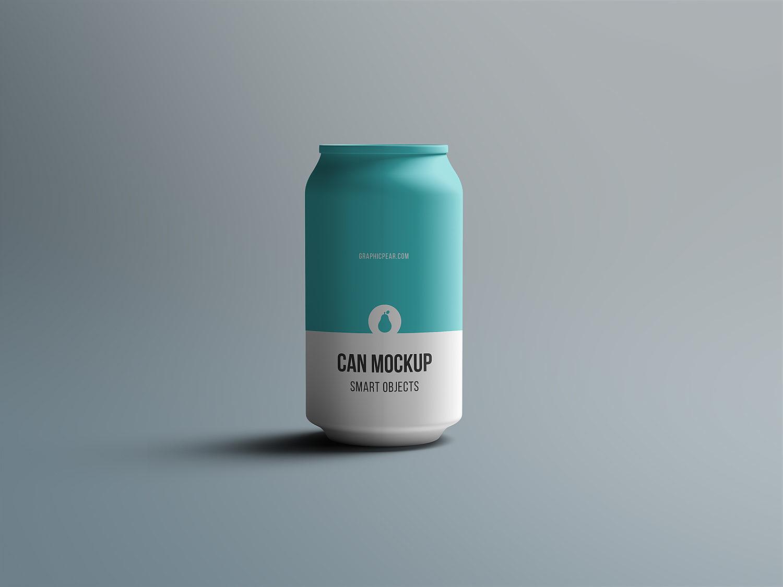 Tin Can Mockup Free PSD