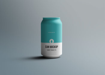 Tin Can Mockup Free PSD