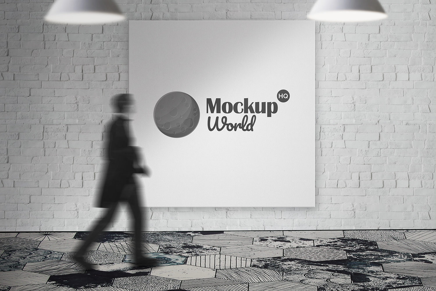 Free Square Billboard Outdoor Mockup
