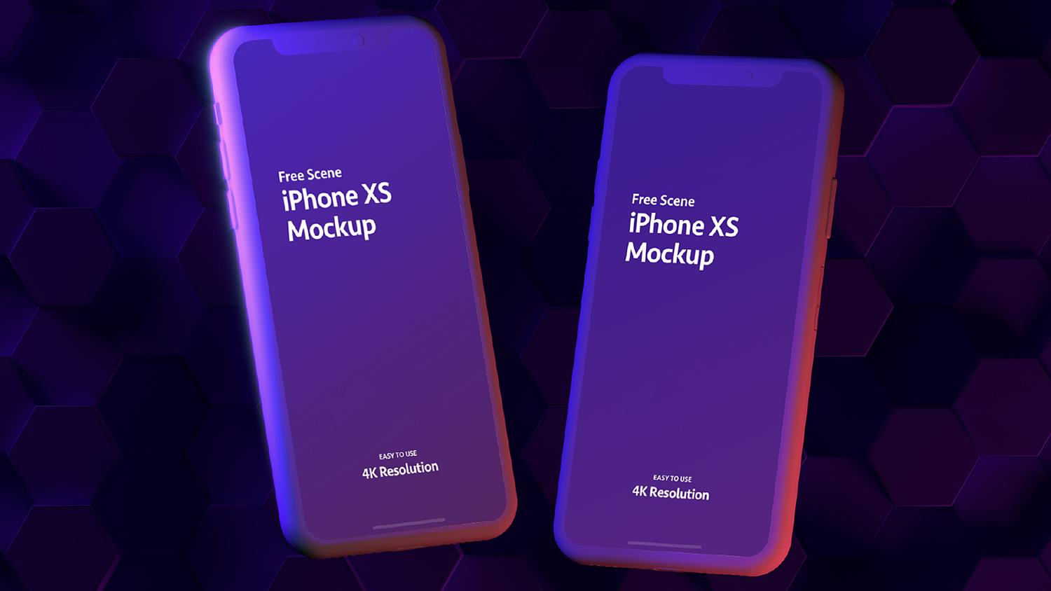 iPhone Xs Double Sketch Mockup