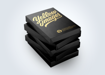 5 Matte A4 Size Paper Sheet Packs Mockup