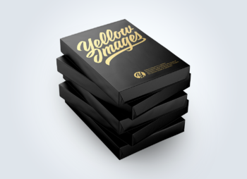 5 Matte A4 Size Paper Sheet Packs Mockup