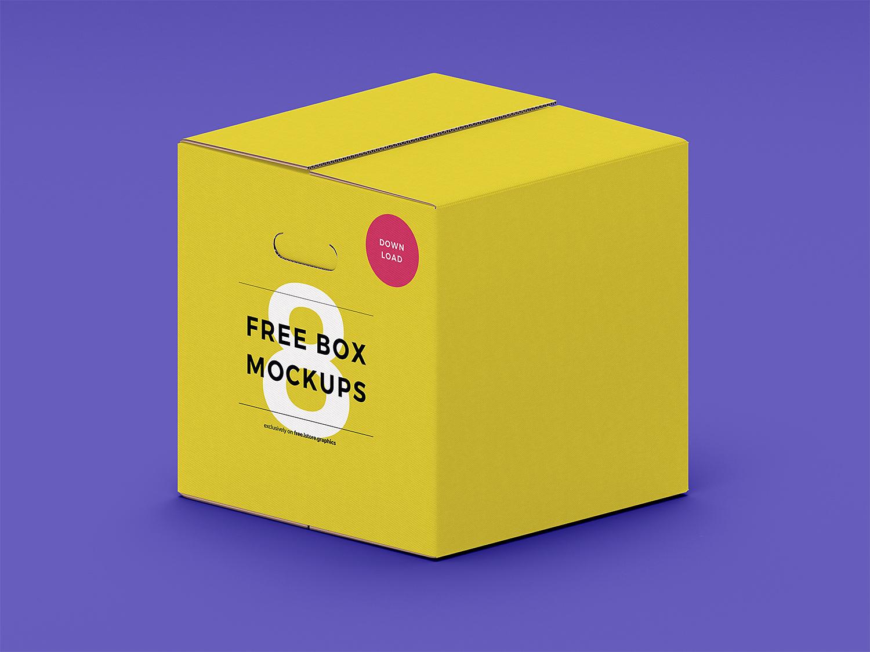 7 free box PSD mockups