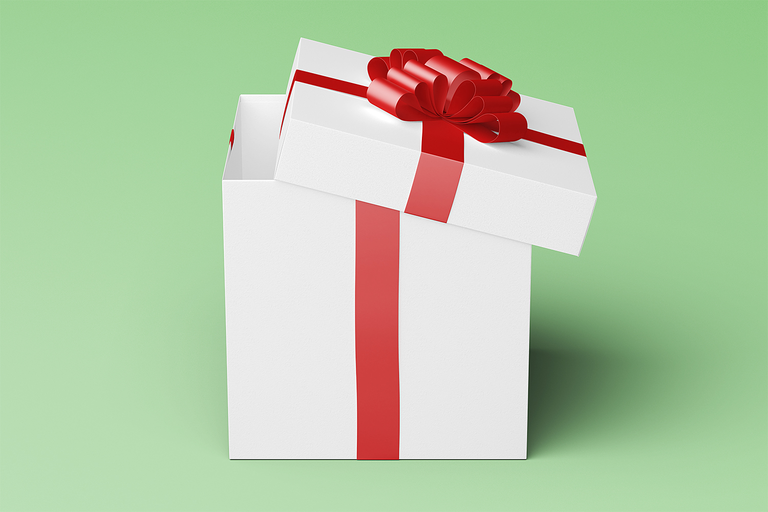 Square Gift Box Package Mock-Up