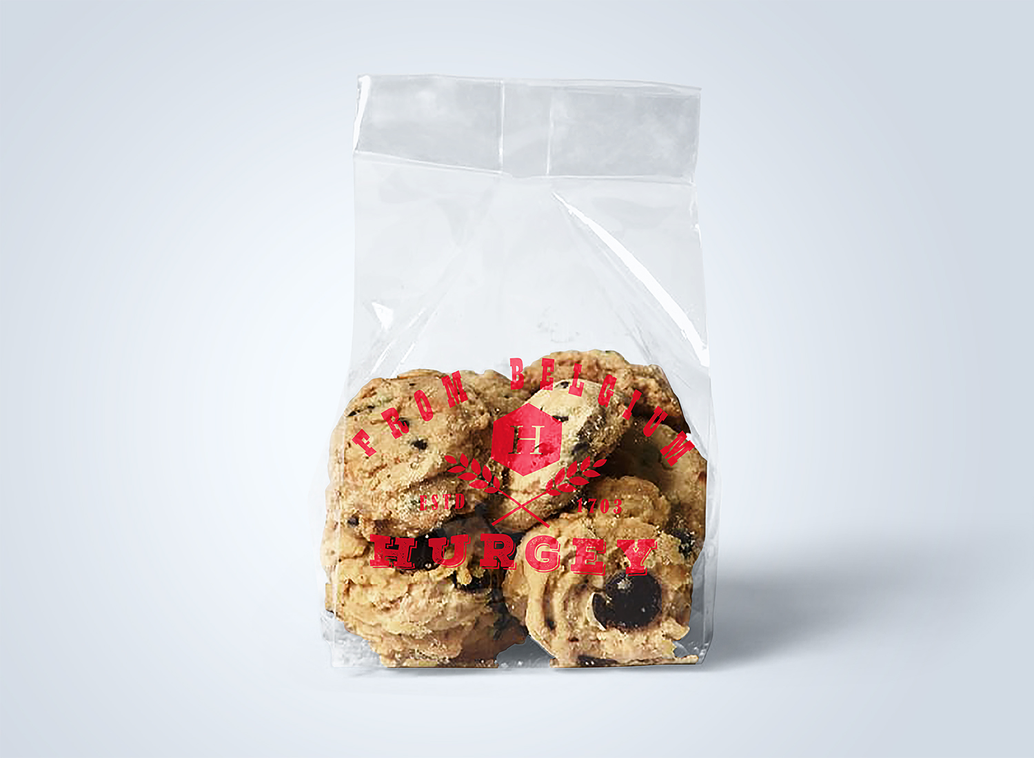 Free Bread and Cookies Plastic Bags Mockup