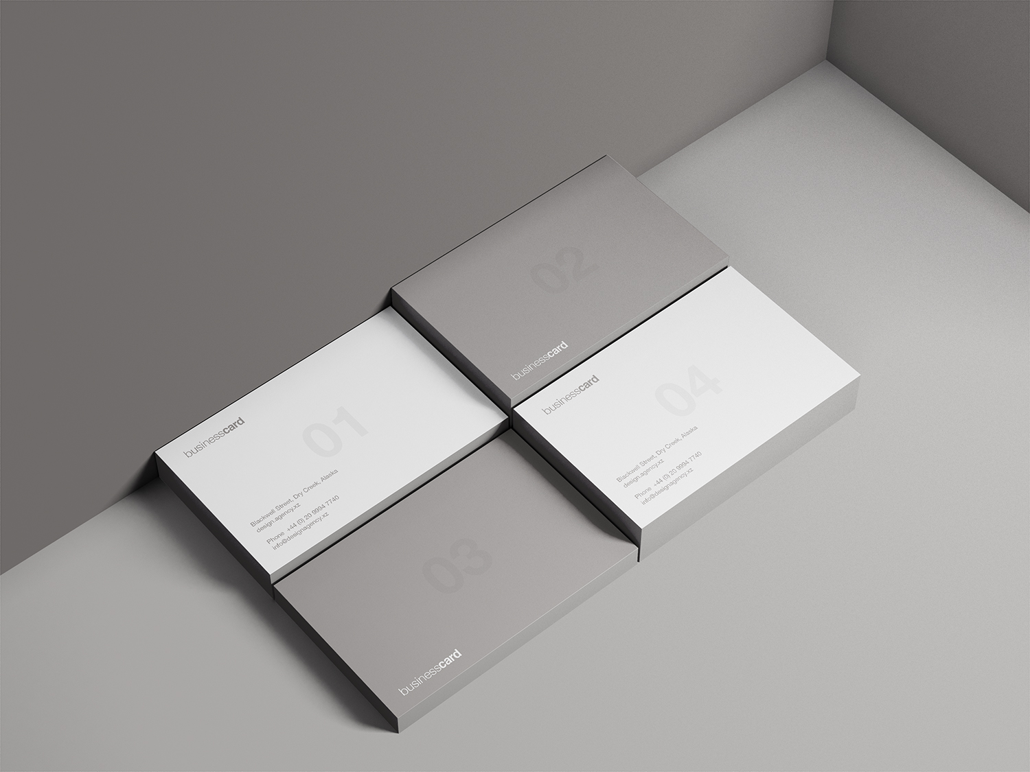 Free Business Card PSD Mockup