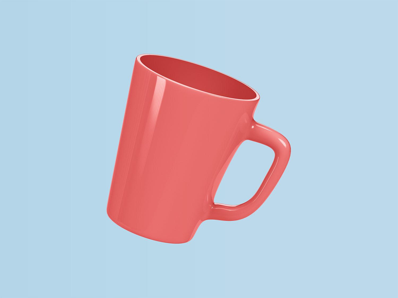 Free Ceramic Mug PSD Mockup